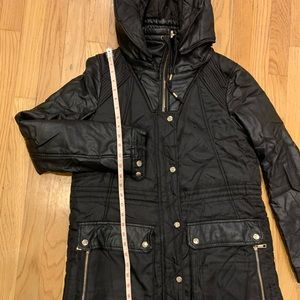 Very warm Zara Black Leather Coat